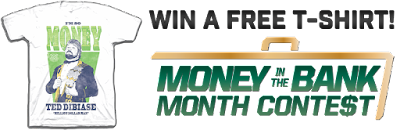 Money in the Bank contest WWE t-shirts Ted DiBiase giveaway