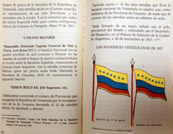 Que significado tienen las 7 estrellas de la bandera de venezuela