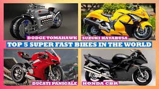 Top 5 Super Fast Bikes in the World, Top Fastest Superbikes in the World