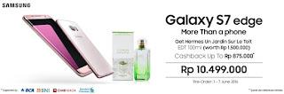 Promo Samsung Galaxy S7 edge edisi Pink Gold