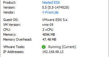 VMware Front Experience: Building a self-configuring nested ESXi