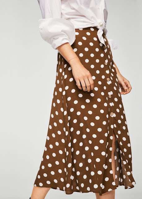 abito a pois bianchi su fondo marrone polka dots dress mango dress ss 2018 mango polka dots collection collezione mango primavera estate 2018 tendenza pois tendenza polka dots mariafelicia magno fashion blogger color block by felym fashion blog italiani fashion blogger italiane fashion bloggers italy