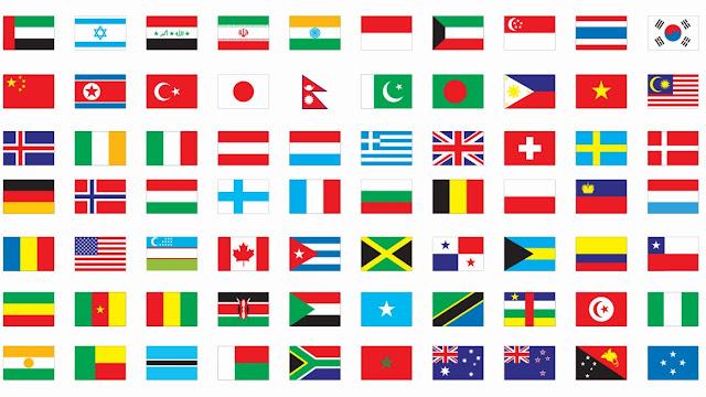 Kenali Bendera Mengikut Negara