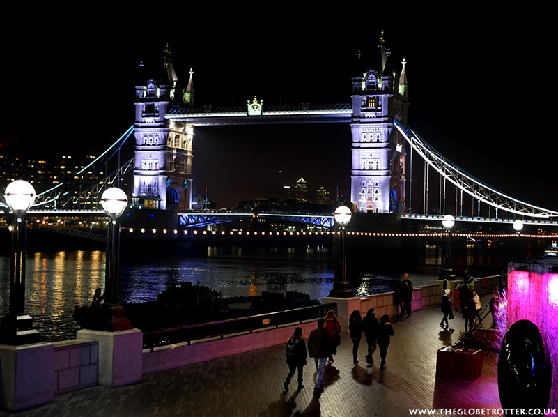 Tower Bridge London Lit up At Night
