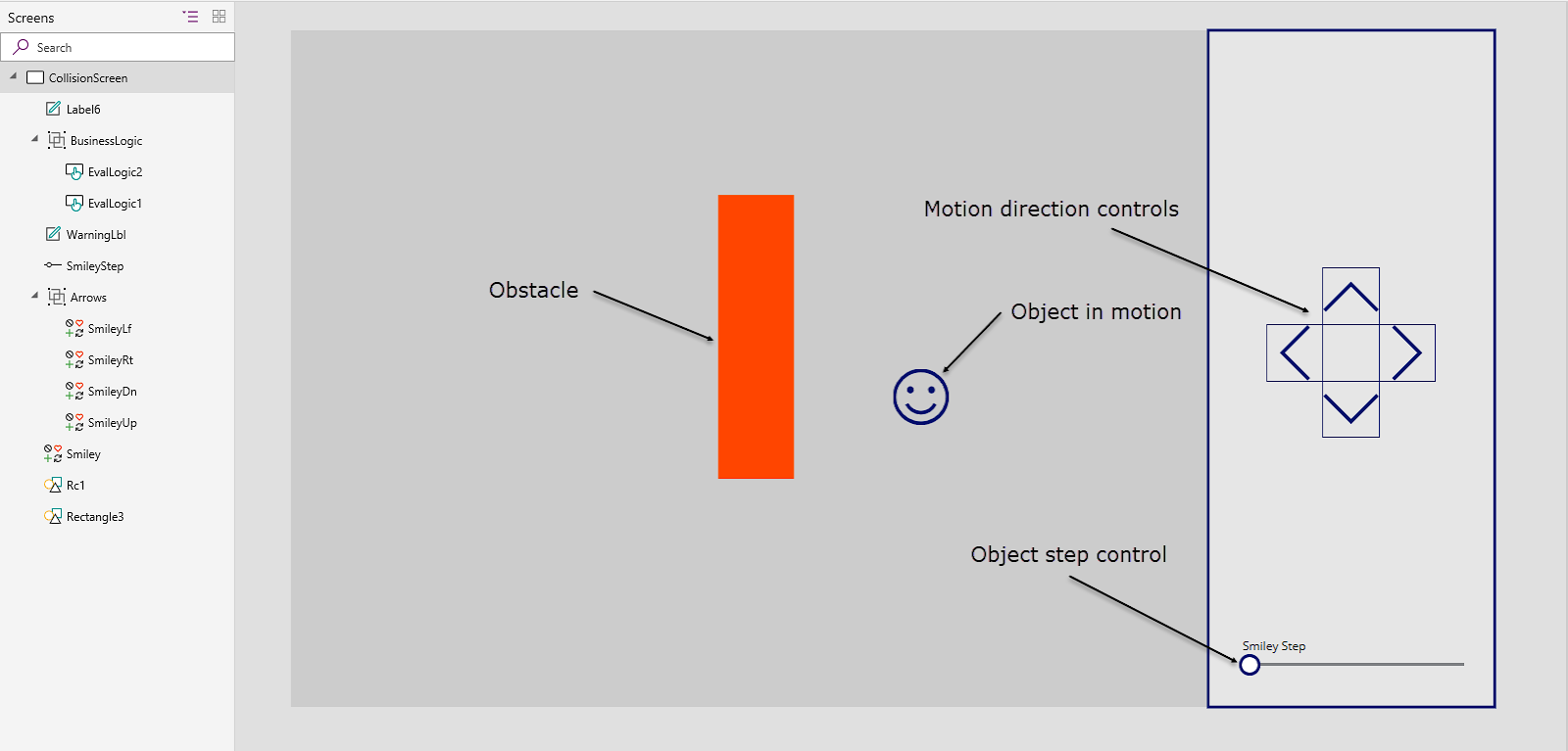 PowerApps: Simple Object Proximity and Collision Detection