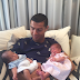 Ronaldo shares first photo of his twin boys as he meets them for the first time
