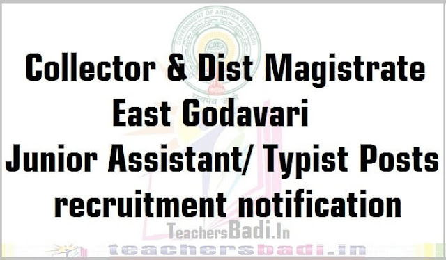 Junior Assistants,Typists recruitment,East Godavari District