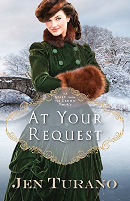 At Your Request is a delightfully charming novella that took me less than two hours to read. It serves as an introduction to a full length novel by Jen Turano, Behind the Scenes.