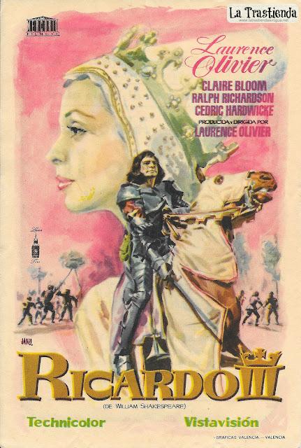 Ricardo III - Programa de Cine - Laurence Olivier - Claire Bloom