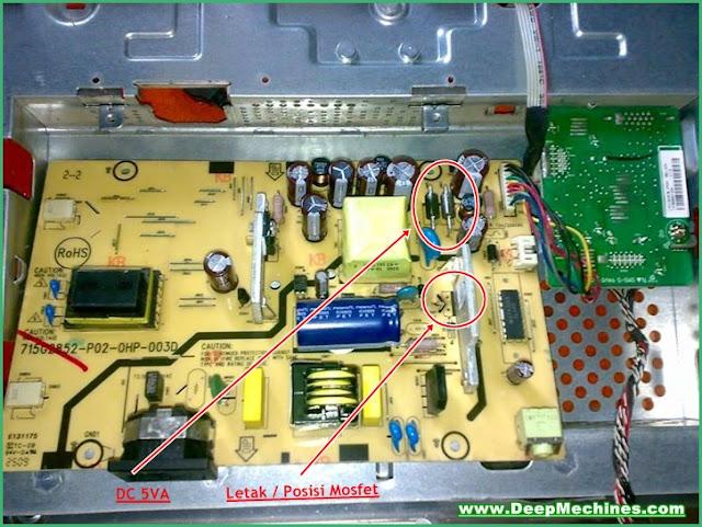 Kerusakan Korslet Monitor LCD Compaq CQ1569