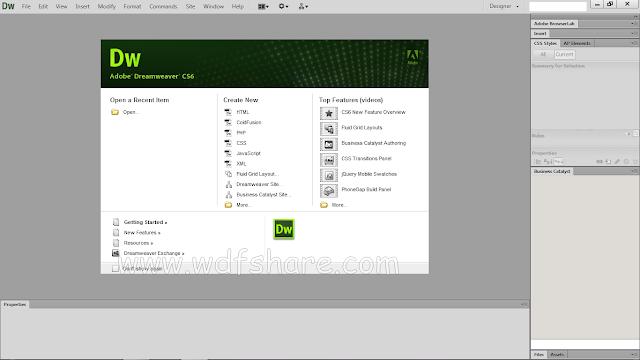 Adobe Dreamweaver CS6 Full Crack - WFDShare.com