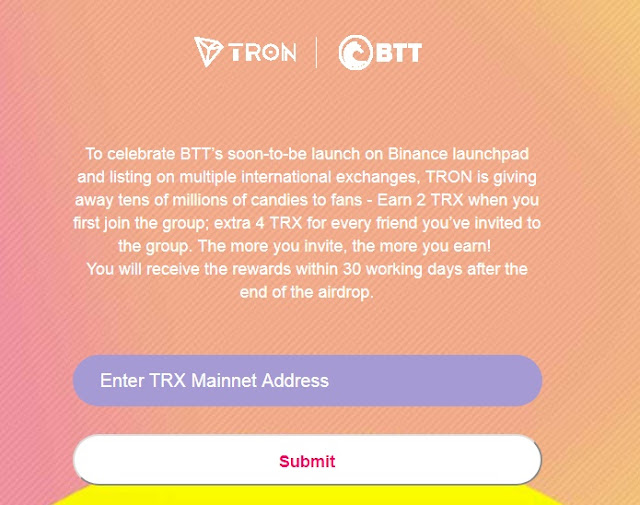 Ended] Tron Airdrop 2019 - Free TRX coin - Earn Free