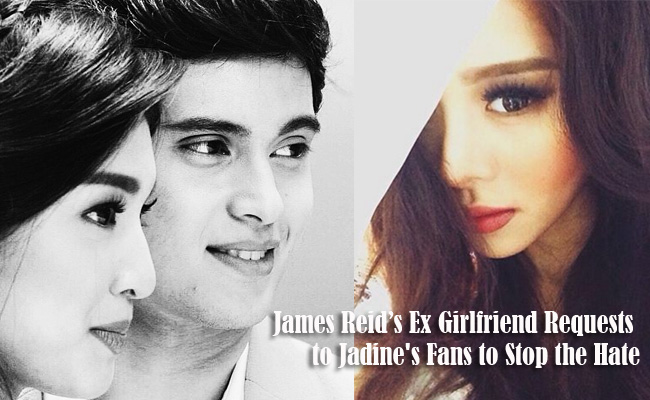 James Reid's Ex Girlfriend Requests to Jadine's Fans to Stop the Hate