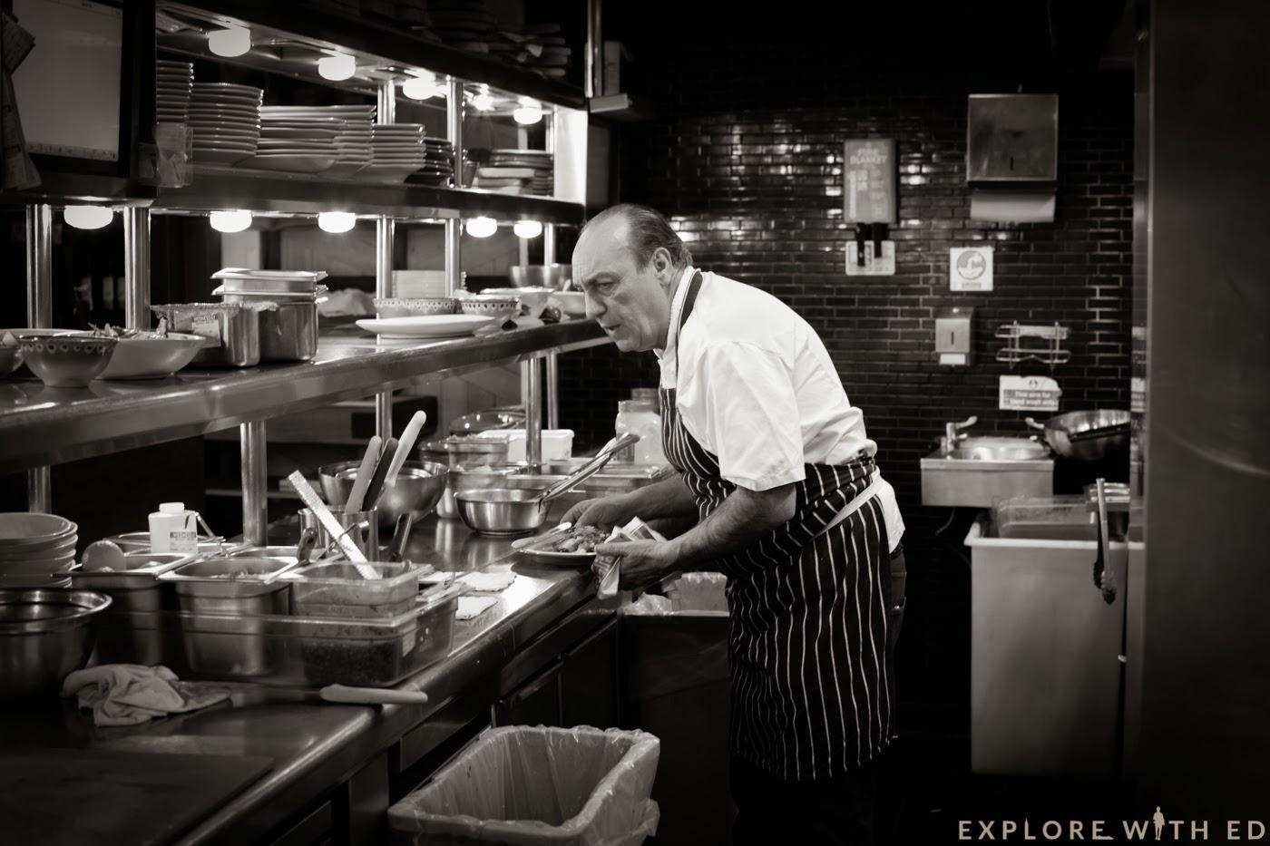 Gennaro Contaldo cooking in Jamie's Italian Cardiff
