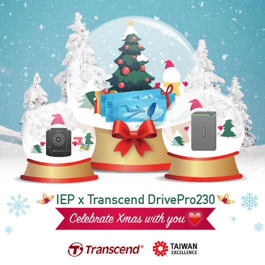 Get into the Christmas Vibe with IEP x Transcend DrivePro Raffle