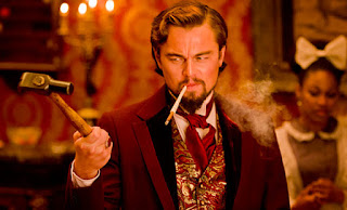 Leonardo DiCaprio as Calvin Candie in Django Unchained, Mississippi plantation owner, candie land, Directed by Quentin Tarantino