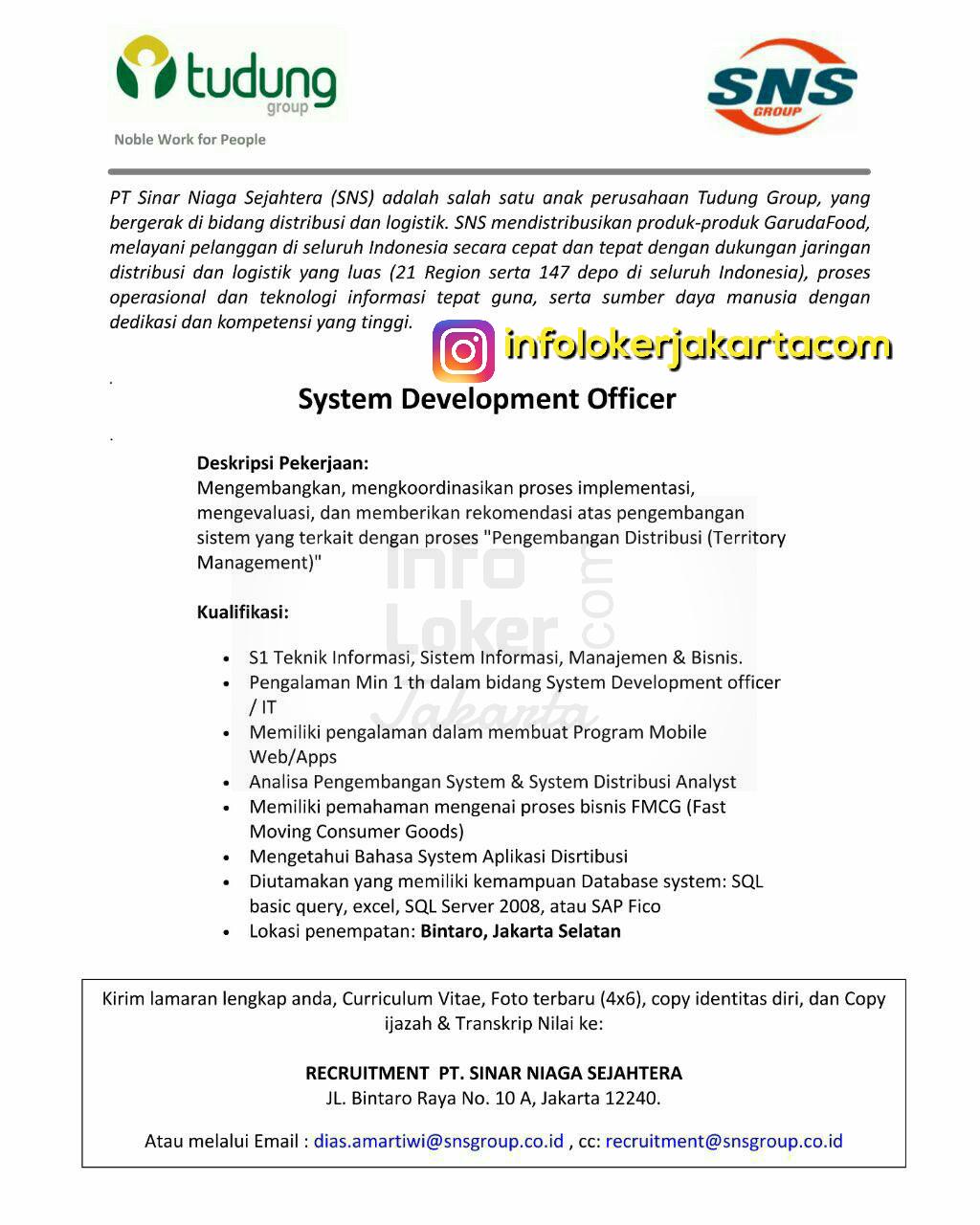 Lowongan Kerja PT. Sinar Niaga Sejahtera ( SNS ) Jakarta April 2017