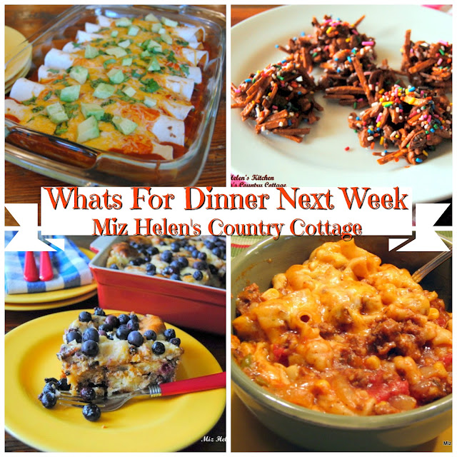 Whats For Dinner Next Week 2-3-19 at Miz Helen's Country Cottage