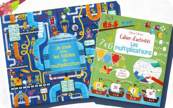 Cahier d'activité : Les multiplications et Je joue avec les tables de multiplication - Usborne