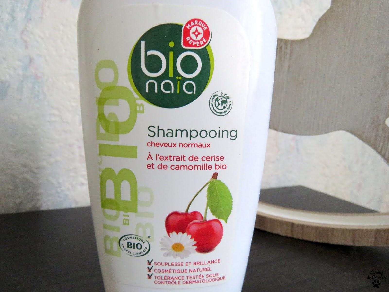 Shampoing Cheveux Normaux - Cerise et Camomille Bio - Bio Naïa (Leclerc)
