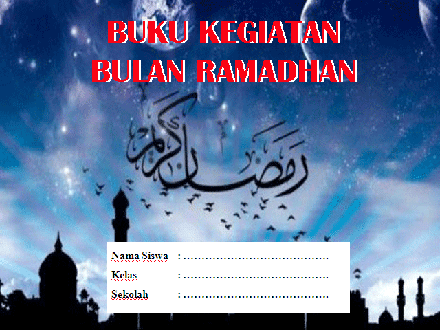 Buku Catatan Kegiatan Bulan Ramadhan