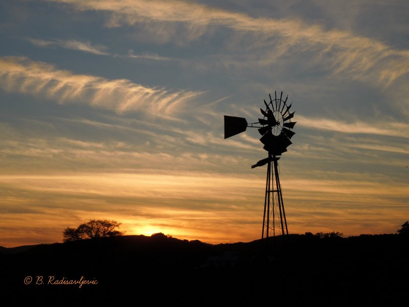 2019 Paso Robles and Templeton Wine Country Calendar: Castoro Windmill in Sunset Photo