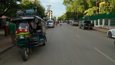 Shared a tuk tuk with other travelers to get to my accommodation in Luang Prabang