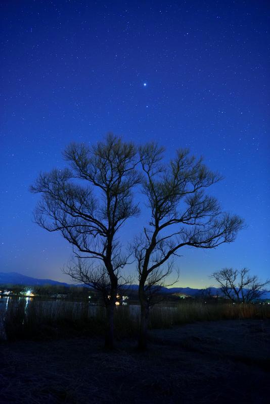 木場潟の星空