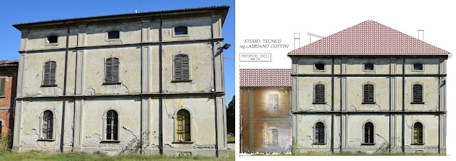 "Rustic Court ""La Faggiola"", Piacenza (ITALY) - Picture of the building and CAD redrawing  and high resolution colored orthophotos - by Studio Tecnico Cottini - JRC 3D Reconstructor"