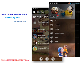 BBM MOD Windows Phone Doraemon (Stand By Me) v2.10.0.35