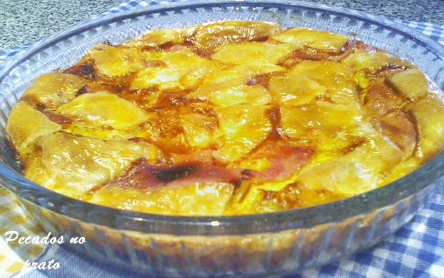 Tortilha de batata com fiambre e queijo
