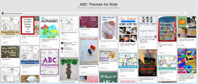 ABC themes for kids pinterest board