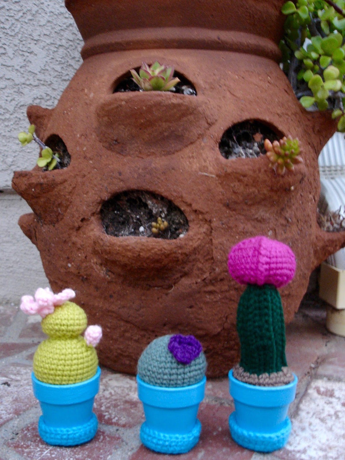 Free Patterns By H Mini Crocheted Cactus Garden