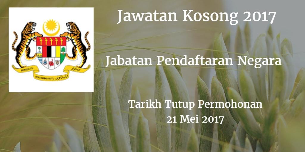 Jawatan Kosong JPN 21 Mei 2017