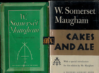 Cakes and Ale 1936 Heinemann Pocket Edition - W. Somerset Maugham & Modern Library Edition