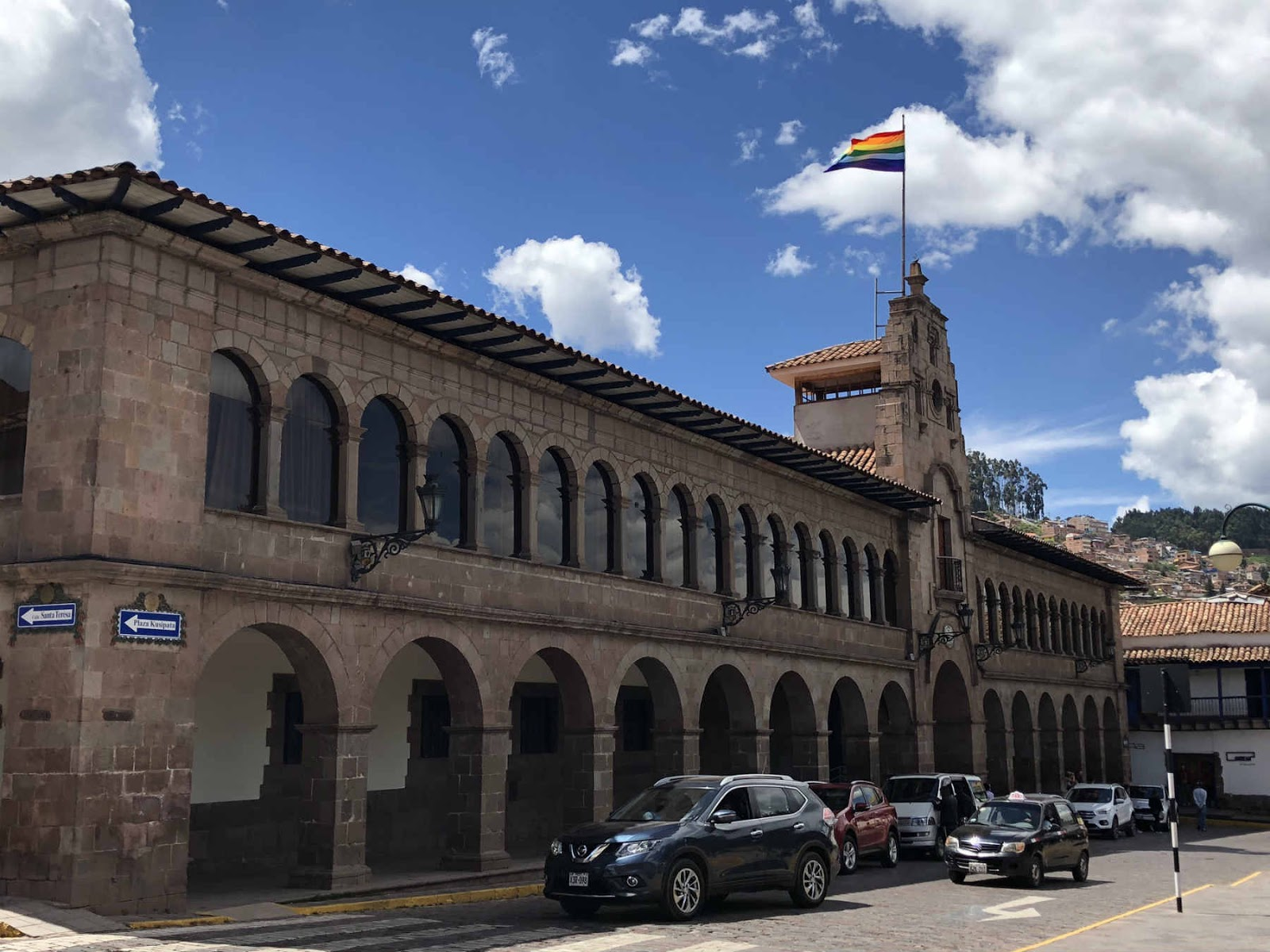Cusco e a bandeira Inca