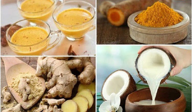Mélangez le curcuma, le gingembre et le lait de coco et le boire une heure avant le lit!