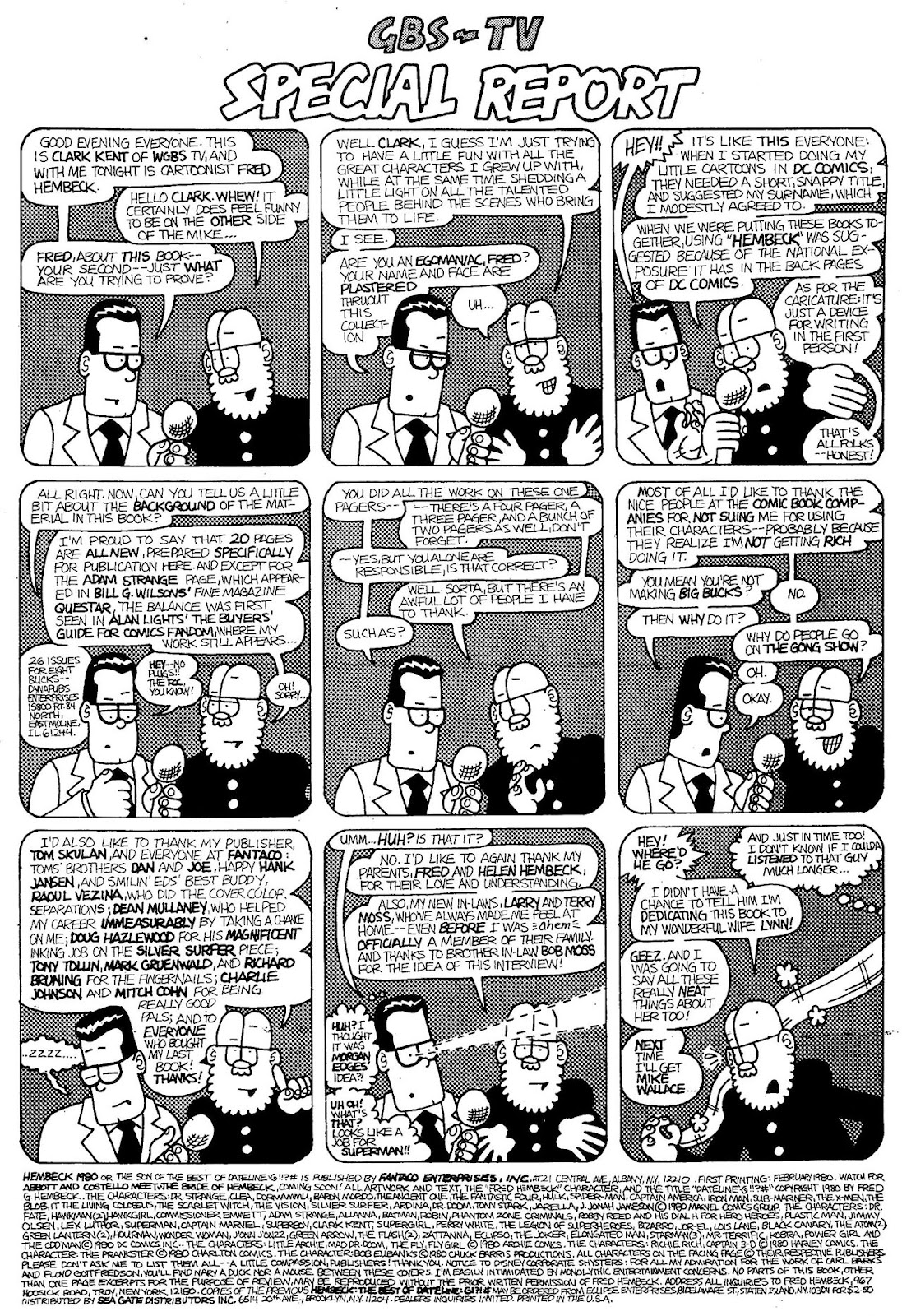 Read online The Nearly Complete Essential Hembeck Archives Omnibus comic -  Issue # TPB (Part 1) - 84