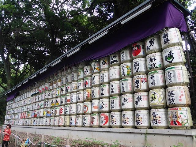 Parque Yoyogui, barriles de sake