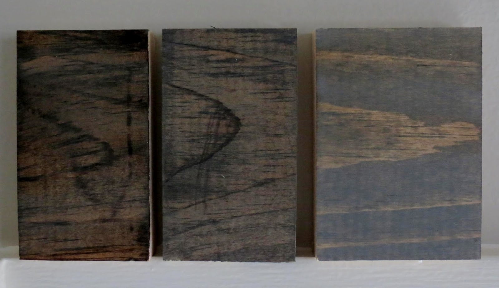 I Stained Each Board With Dark Walnut Stain Had Left Over From Another Project After That Dried Applied A Coat Of Weathered Gray