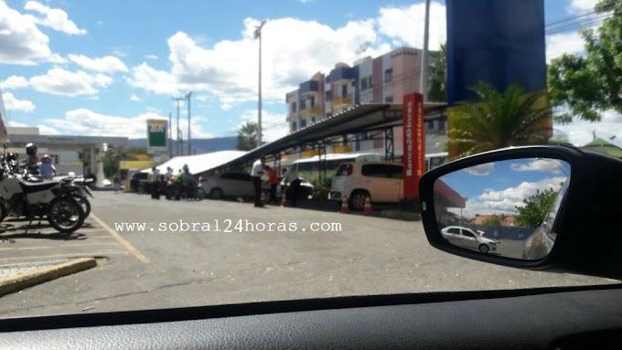 SOBRAL:Teto do estacionamento do super mercado Lagoa desaba sobre vários veículos