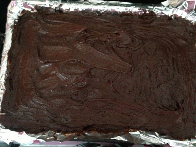 chocolate brownie recipe with cookie dough and Oreo layer