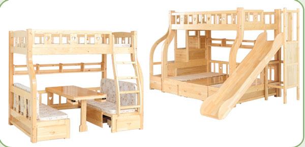 kiểu thiết kế giường tầng có cầu trượt