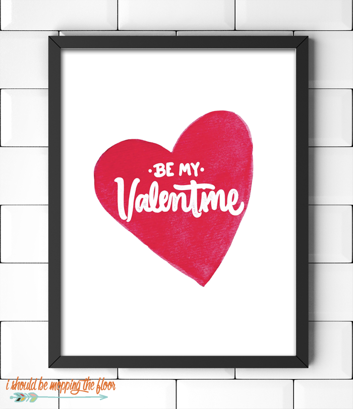 Be My Valentine Printable