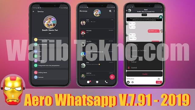 Aero WhatsApp Mod Apk V.7.91. Versi Terbaru 2019