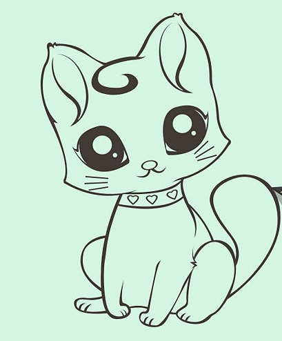 how to draw a cute cartoon cat wikihow - 670×503