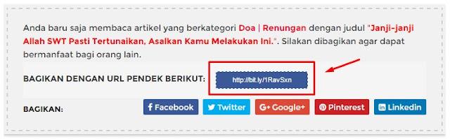 Cara Otomatis Menghasilkan URL Pendek di Blogger dengan Bit.ly