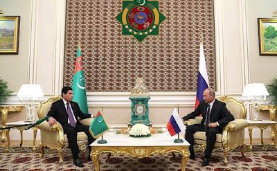 President of Russia Vladimir Putin and President of Turkmenistan Gurbanguly Berdimuhamedov.