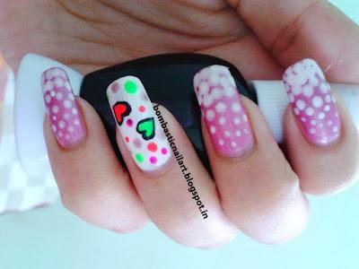 Bubble nail art