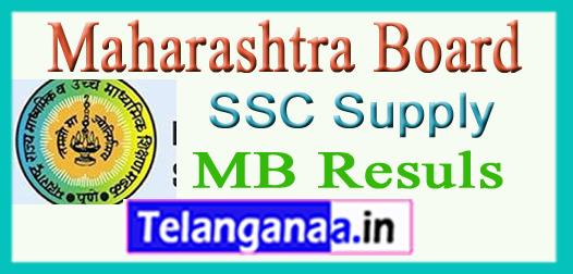 Maharashtra Board SSC Supply Result 2017